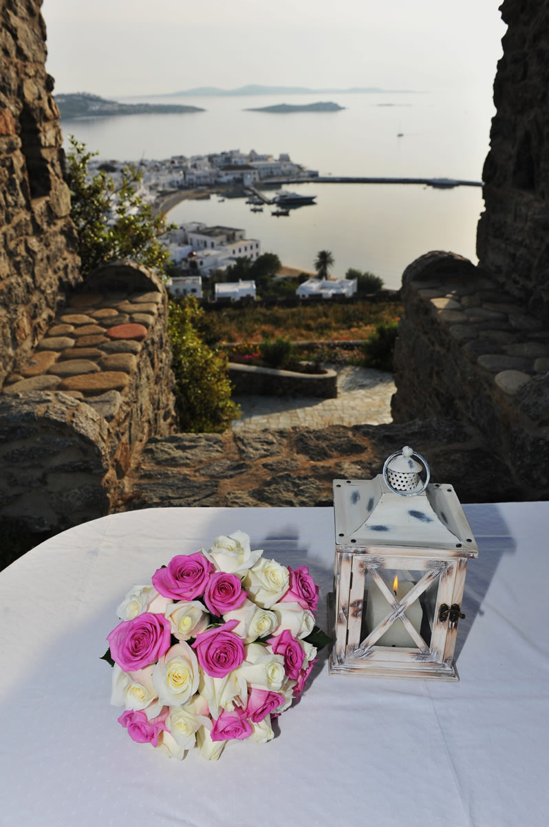 Flowers Decoration Mykonos Wedding Package 06