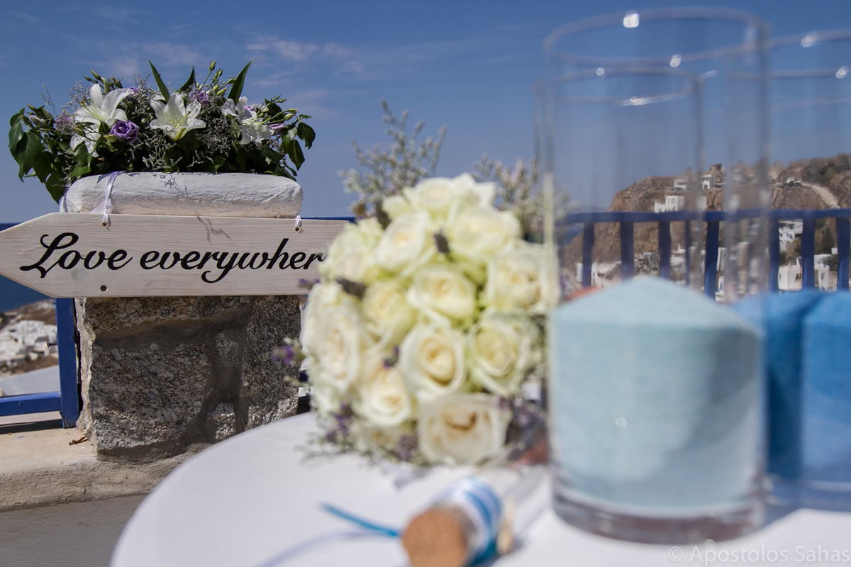 Flowers Decoration Mykonos Wedding Package 23