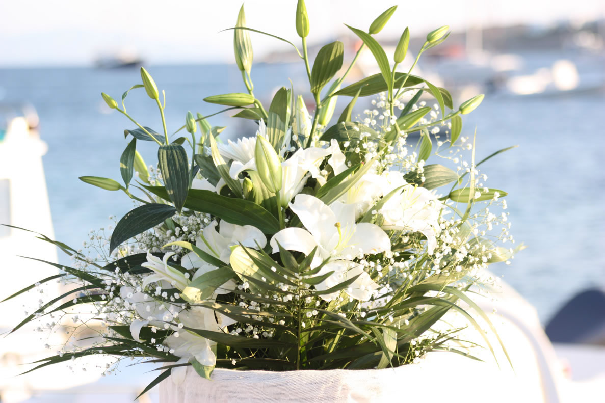 Flowers Decoration Mykonos Wedding Package 28