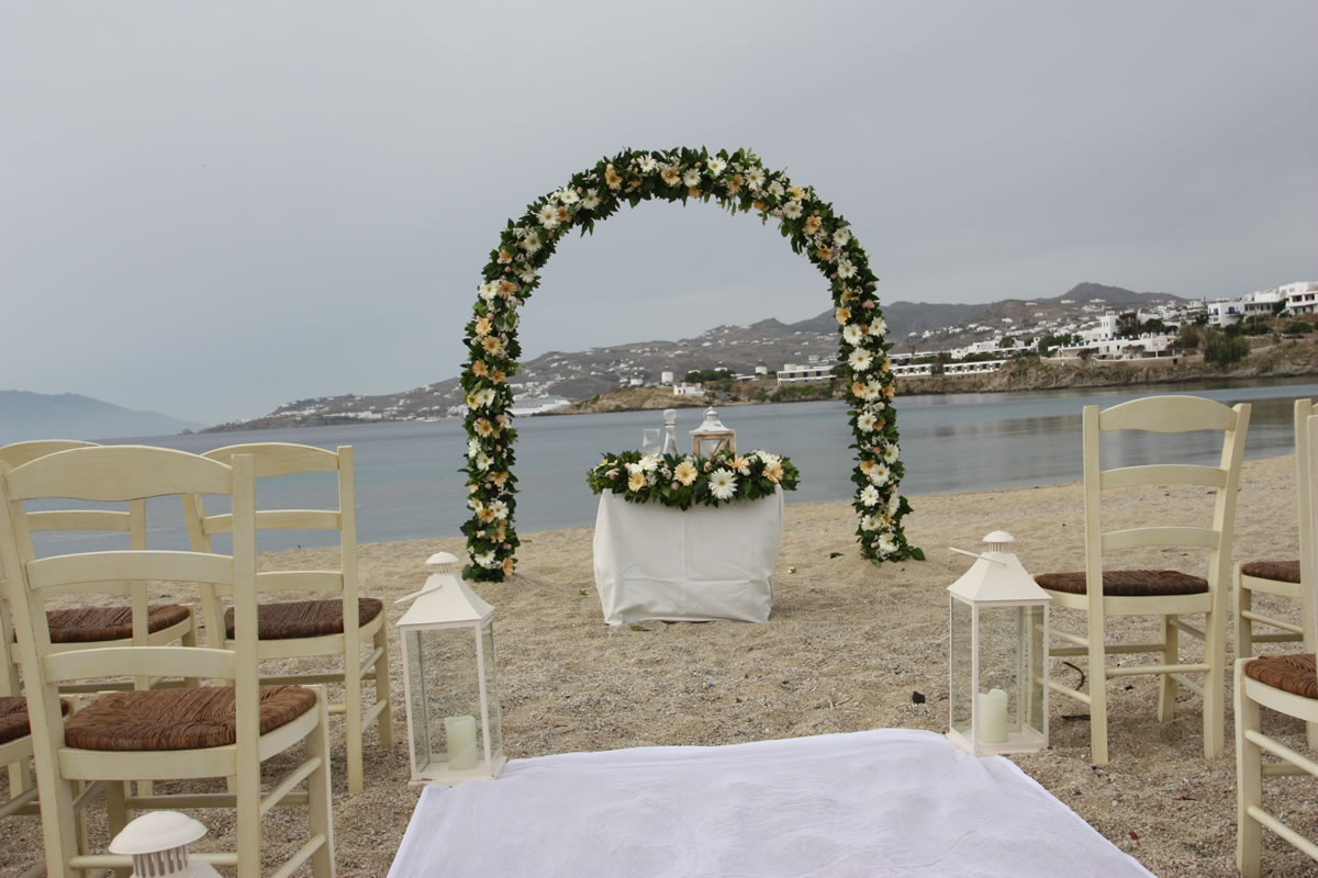 Flowers Decoration Mykonos Wedding Package 31