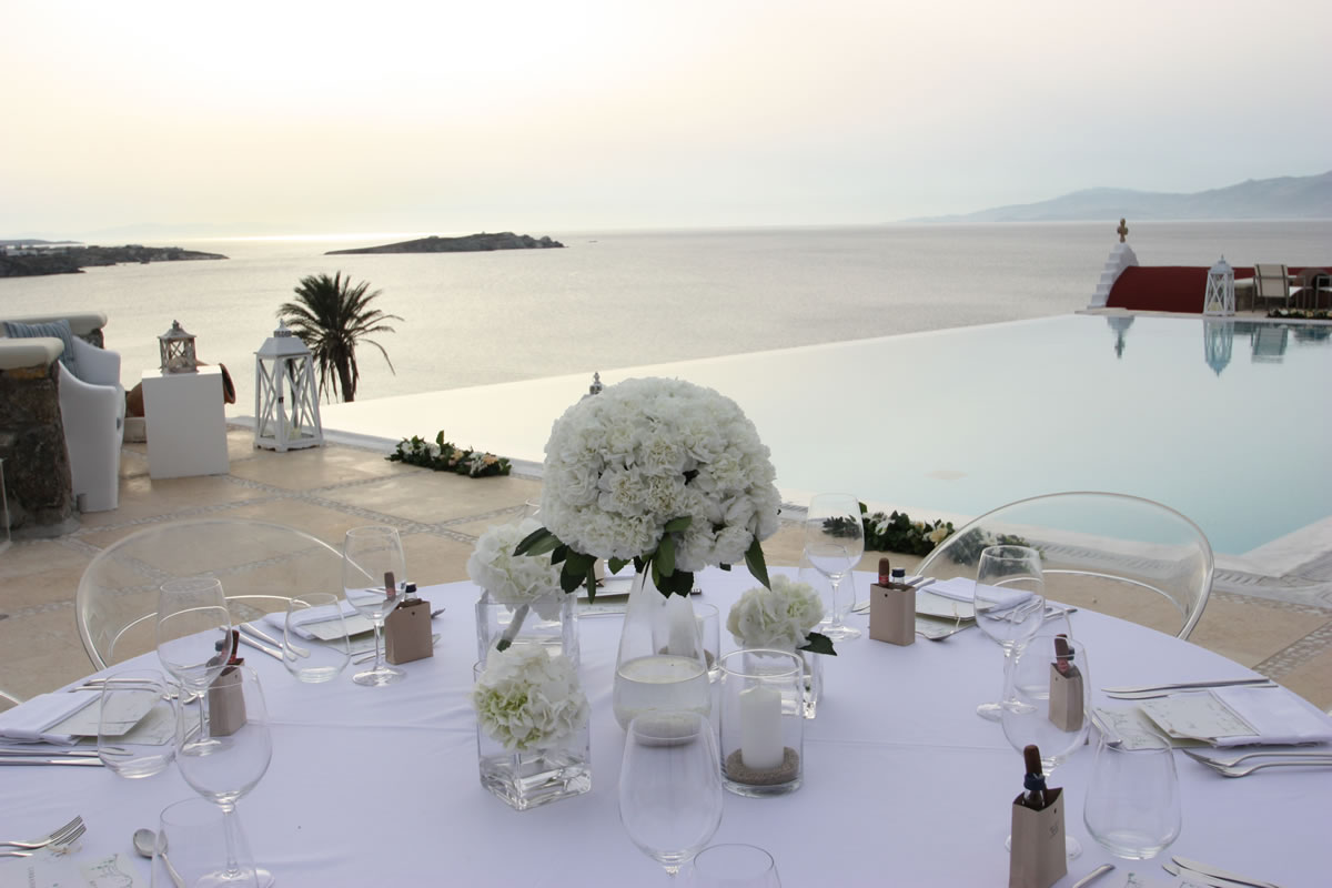 Flowers Decoration Mykonos Wedding Package 34