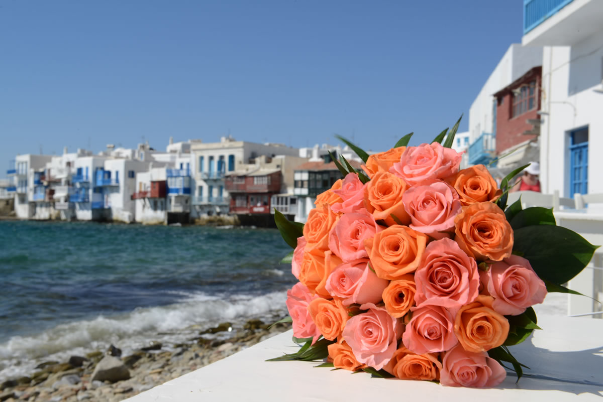 Flowers Decoration Mykonos Wedding Package 46