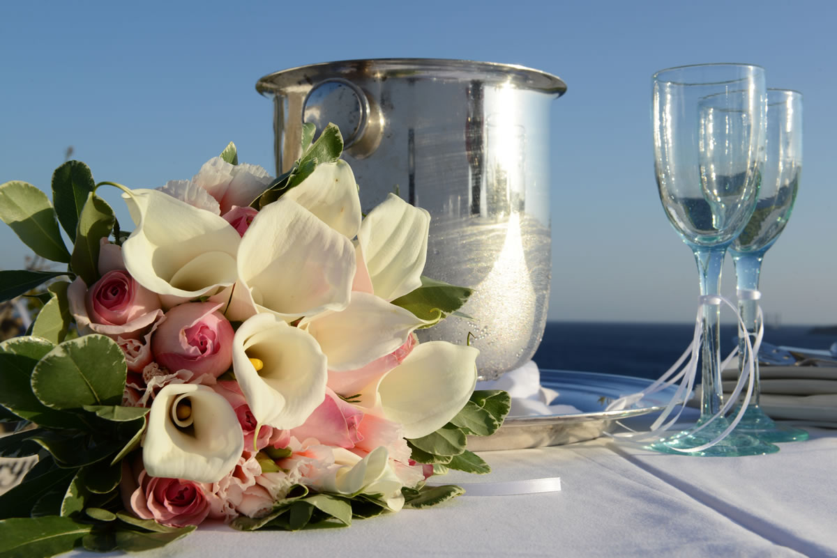 Flowers Decoration Mykonos Wedding Package 48
